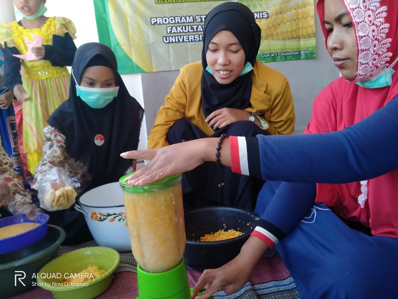 PKM Susu Jagung Di Desa Manding Timur